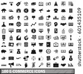 100 e commerce icons set in... | Shutterstock .eps vector #601435109