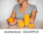 healthy drink  diet  detox and... | Shutterstock . vector #601439915