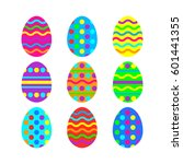 easter eggs vector icon... | Shutterstock .eps vector #601441355