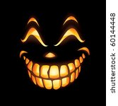Scary Jack O Lantern Smiling In ...