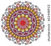mandala flower decoration ... | Shutterstock .eps vector #601448915