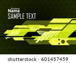 green abstract template for... | Shutterstock .eps vector #601457459