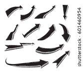 set of doodle arrow vector... | Shutterstock .eps vector #601460954