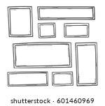 set of doodle frame vector... | Shutterstock .eps vector #601460969