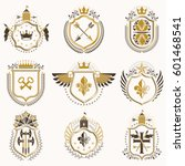 set of vector vintage emblems...