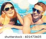 pool. | Shutterstock . vector #601473605