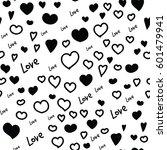 hearts vector seamless pattern. ...   Shutterstock .eps vector #601479941