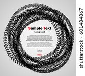 different black tire tracks...   Shutterstock .eps vector #601484867
