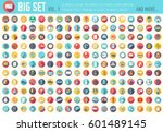 vol 1. flat big collection set... | Shutterstock .eps vector #601489145