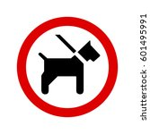 dogs on leash sign | Shutterstock .eps vector #601495991