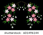 embroidery stitches with... | Shutterstock .eps vector #601496144