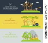 nature issue deforestation ... | Shutterstock .eps vector #601498697