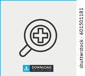 zoom in icon. simple outline... | Shutterstock .eps vector #601501181