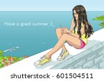 vector isolated sketchy style... | Shutterstock .eps vector #601504511