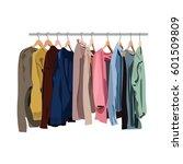 clothes rail  | Shutterstock .eps vector #601509809