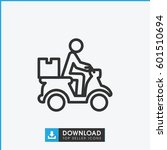 courier on motorcycle icon.... | Shutterstock .eps vector #601510694