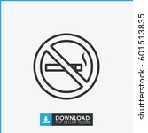 no smoking icon. simple outline ... | Shutterstock .eps vector #601513835