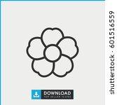 flower icon. simple outline... | Shutterstock .eps vector #601516559