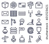 post icons set. set of 25 post... | Shutterstock .eps vector #601523621