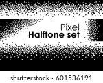 pixel halftone set futuristic 8 ... | Shutterstock .eps vector #601536191