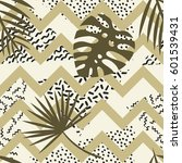 seamless tropical vector...   Shutterstock .eps vector #601539431