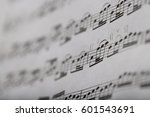 Closeup Of Some Musical Notes...