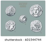 ancient greece  antique symbols ... | Shutterstock .eps vector #601544744