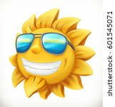 fun summer sun. 3d vector icon | Shutterstock .eps vector #601545071
