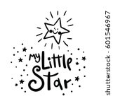 my little star card. bright... | Shutterstock .eps vector #601546967