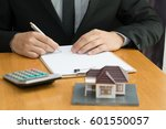 mortgage home | Shutterstock . vector #601550057