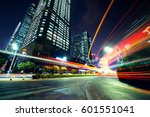 traffic through the modern city   Shutterstock . vector #601551041