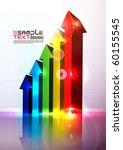 colorful vector 3d histogram   Shutterstock .eps vector #60155545