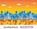 cityscape in autumn color...