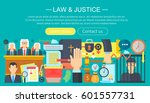 law and justice design concept... | Shutterstock .eps vector #601557731