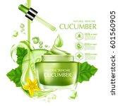 cucumber natural moisture skin...   Shutterstock .eps vector #601560905