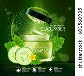 cucumber natural moisture skin... | Shutterstock .eps vector #601560935