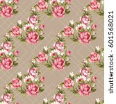 seamless floral pattern with... | Shutterstock .eps vector #601568021