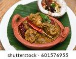 bengali masala chicken curry is ... | Shutterstock . vector #601576955