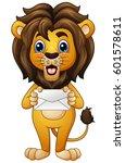 cartoon lion holding envelope | Shutterstock . vector #601578611