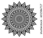mandala. decorative round... | Shutterstock .eps vector #601586717