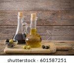 olive oil and balsamic vinegar... | Shutterstock . vector #601587251