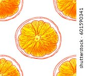 seamless pattern with sketched... | Shutterstock .eps vector #601590341