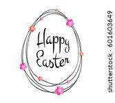 Vector Happy Easter Black...