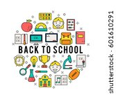 illustration of symbols school... | Shutterstock .eps vector #601610291