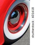 Red White And Chromed Wheel