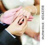 close up on hand of a man put... | Shutterstock . vector #60162358