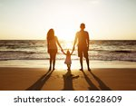 family of father mother and... | Shutterstock . vector #601628609