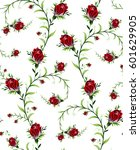 pattern of rose flowers on a...   Shutterstock .eps vector #601629905