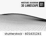 wireframe landscape background. ... | Shutterstock .eps vector #601631261
