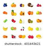 fresh tropical fruits berries...   Shutterstock .eps vector #601643621